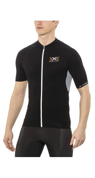 X-Bionic The Trick Biking Shirt Short Sleeves Full Zip Men Black/White